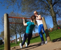 Working out in a park is great fun as well as effective